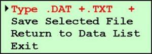 G2 Save File Screen - Type DAT & TXT