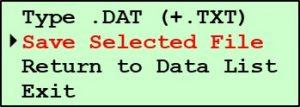 G2 Submenu - Save Selected Files