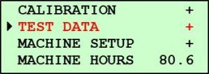 Pine G1 Main Menu Screen 2 - Test Data