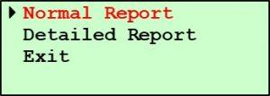 Pine G1 Print Screen - Normal Report